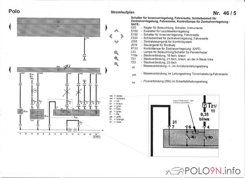 FFB und Fenster abgreifen. - polo9N.info - polo6R.info Forum