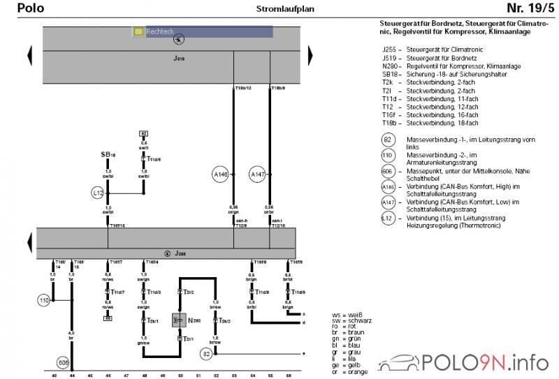 Frage zur Lichtschalterbelegung polo9N.info polo6R.info