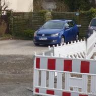 Gaaanz vorsichtig ist unsere Straße provisorisch befahrbar...