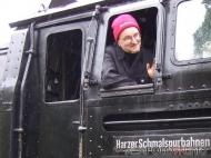 Führerstandsmitfahrt auf der Selketalbahn Okt. 2010, BR 99