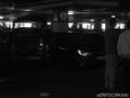 Kaum zu erkennen das Tochterfahrzeug im Kofferraum