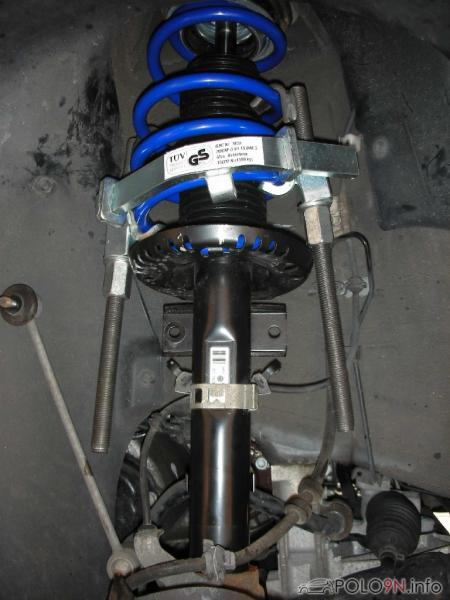 Fahrwerk hinten VW Polo 6R Federn Stoßdämpfer Gas